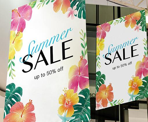 Stampa su banner per promozioni a breve e lungo termine