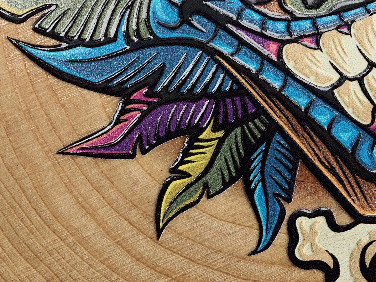Stampa su legno naturale